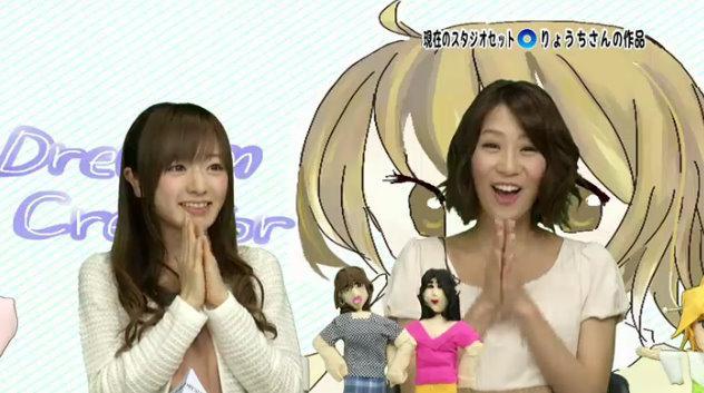 紺野あさ美アナ(左)と植田萌子アナ