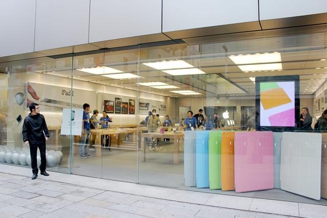 5日10時過ぎのAppleStore銀座の様子