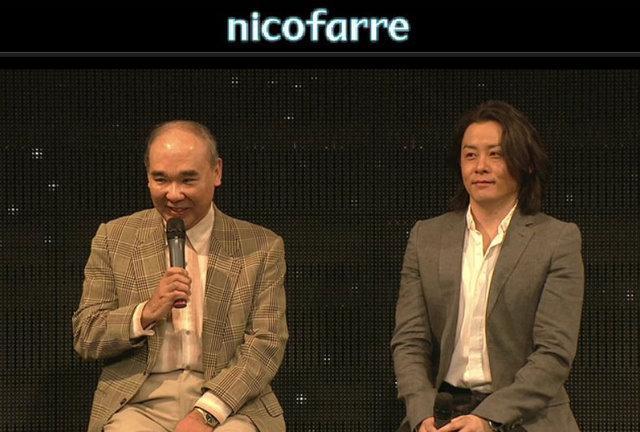 「銀河英雄伝説」の原作者・田中芳樹氏(左)と河村隆一氏
