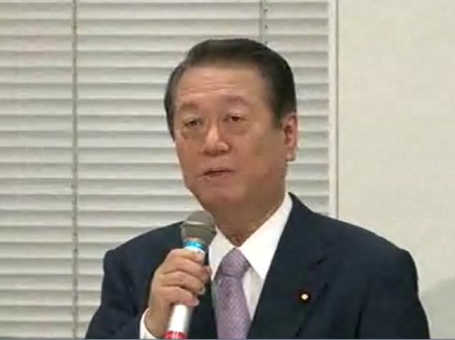 6日の会見時の小沢元代表