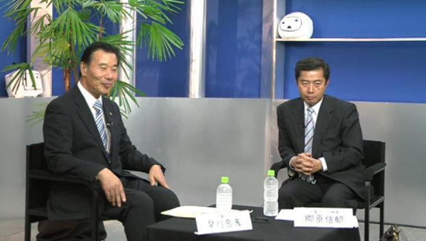 早川忠孝氏(左)と郷原信郎氏