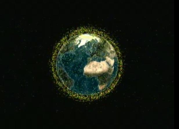 地球周回軌道上にある大量のスペースデブリ(宇宙ごみ)