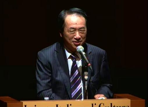 出版記念イベントに駆けつけた菅直人前首相