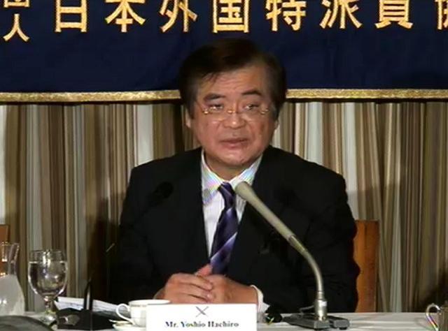 「今日は私の言葉の真意を伝えてほしい」と鉢呂吉雄前経産大臣