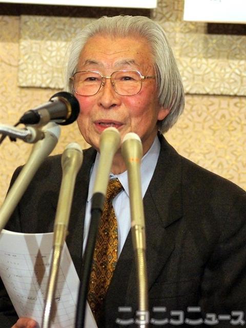 芥川賞選考委員の黒井千次さん