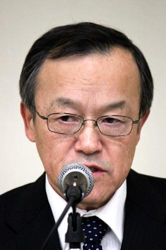 4月の臨時株主総会で辞任することを発表した高山社長