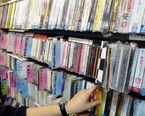 SINO SENTREでは日本のCDが多数売られているが、正規品ばかりではない