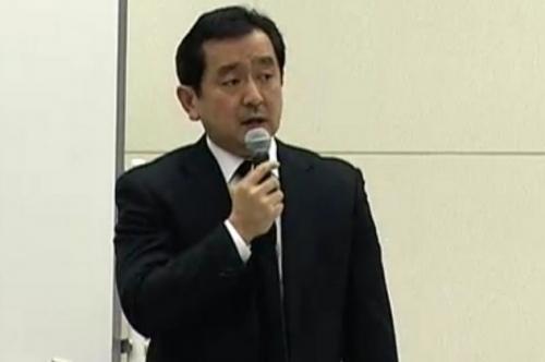 東京電力の会見の模様