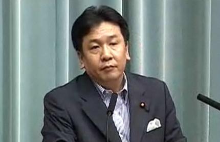 枝野官房長官(当時)は昨年5月31日、東電のTV会議録画映像について「公開が当然」と述べた(2011年5月31日撮影)