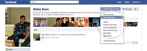 Facebook 承認時にリストを選択