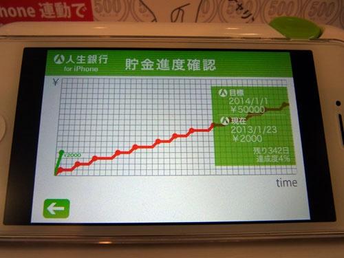 貯金の進捗をグラフで確認