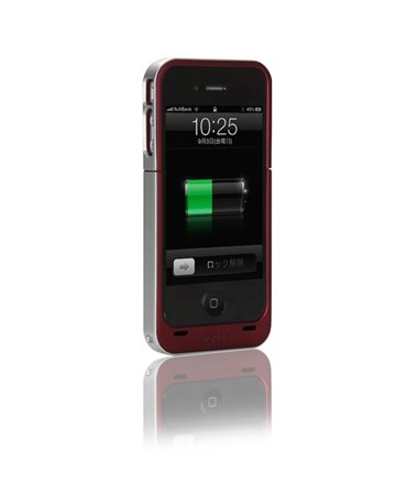 Juice Pack Air for iPhone 4 レッド
