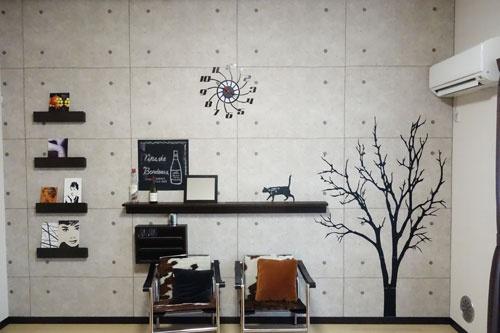コンクリート風の壁紙