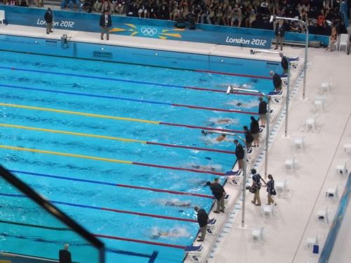 男子100メートル平泳ぎ準決勝