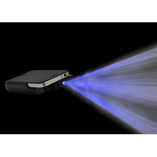 『iPhone 4』用の充電機能付きポケットプロジェクター『monolith(モノリス)』