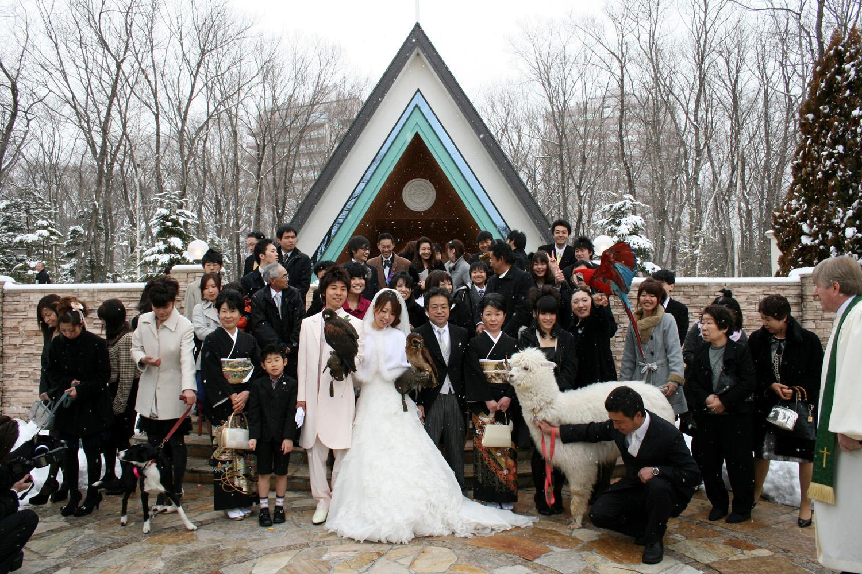 那須どうぶつ王国の結婚式
