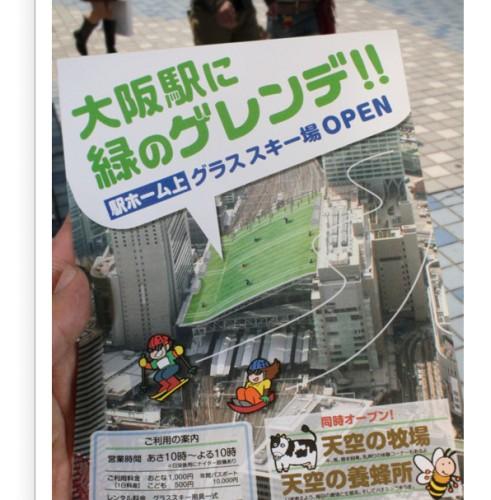 大阪駅に緑のゲレンデ!!