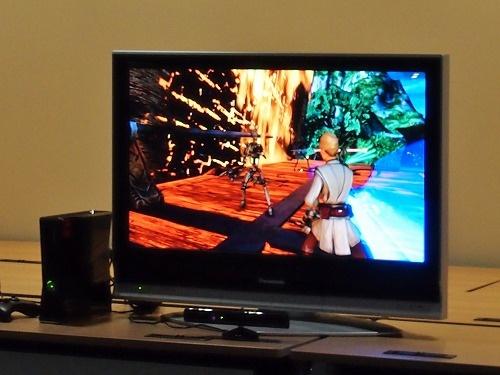 Kinect スターウォーズプレイ画面