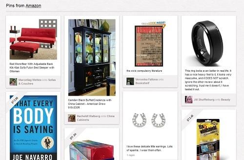 Pinterest上で紹介されたamazonの商品