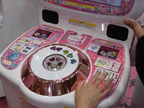 『プリズムストーン』をパネルにはめ込み、赤と青のボタンを押して操作
