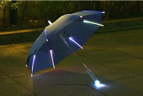 ガジェモニ「レインボーフラッシュLED傘」