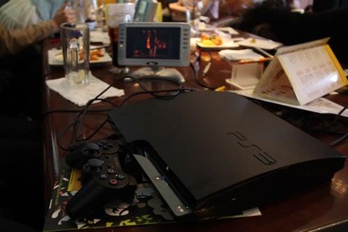 PS3を持参