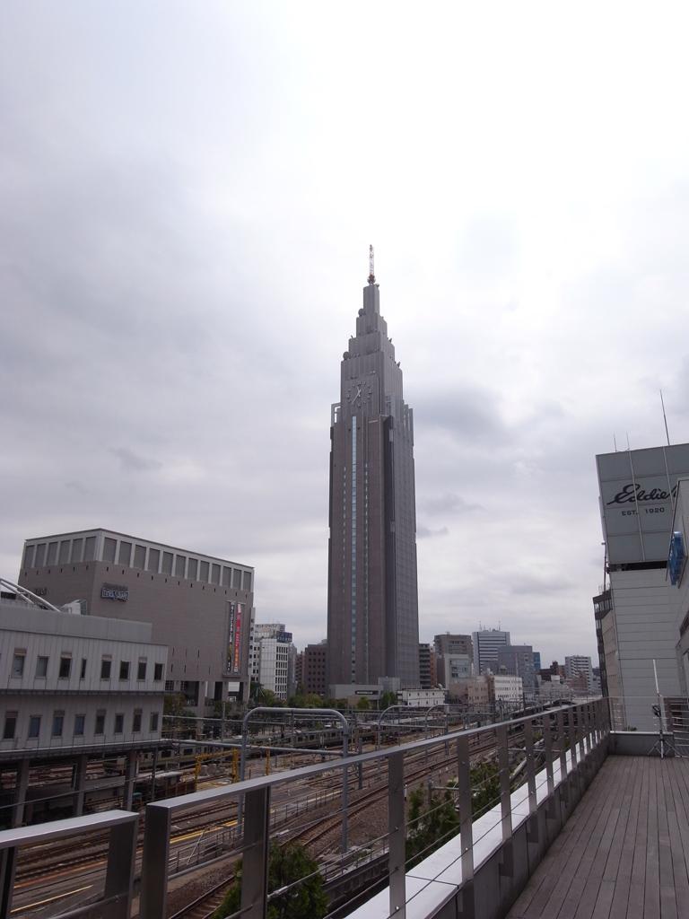 NTTのタワーと線路