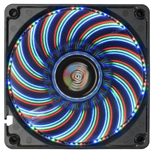 合計54コ! ブルー・レッド・グリーンのLEDが14のパターンで輝くPC用ファン