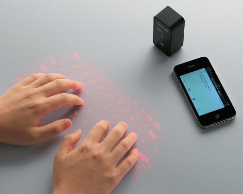 キー投影型Bluetoothキーボード(TK-PBL042BK)