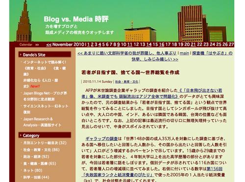 Blog vs. Media 時評