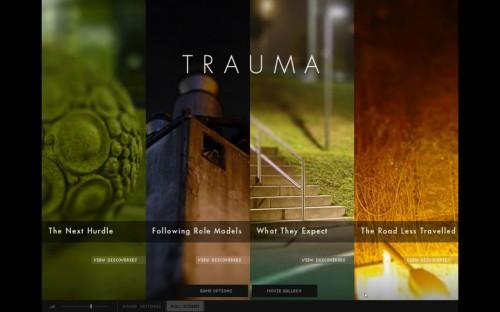 『TRAUMA』のタイトル画面
