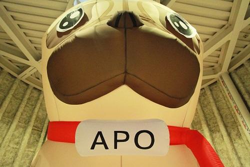 高さ5メートルの巨大アポがアニメ『宇宙兄弟』宣伝大使として新宿に降臨 でもほっとくと寝ちゃうらしい
