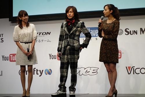 TBSアナウンサーの加藤シルビアさん、フジテレビアナウンサーの宮澤智さん、ダイヤモンド☆ユカイさんがゲストに