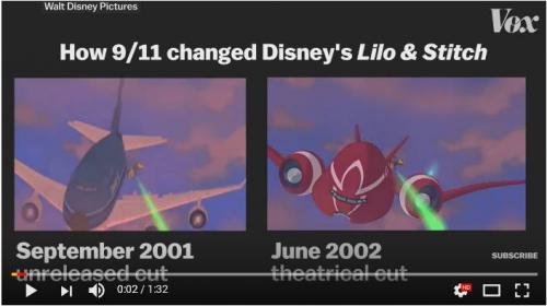 2001年9月11日のアメリカ同時多発テロ事件がディズニー映画『リロ・アンド・スティッチ』に与えた影響