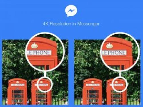 Facebook Messengerで4K写真が送受信できるように!