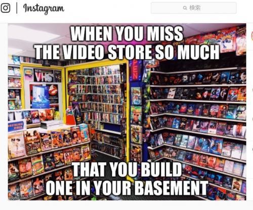 自宅の地下室を一昔前のレンタルビデオショップ風に改造しちゃいました