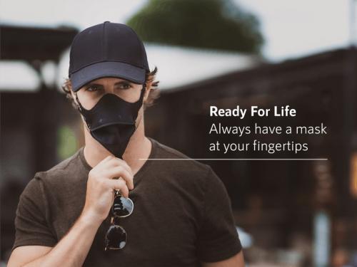 面倒なのでキャップとマスクを合体させてみました Kickstarterに登場した「HideaMask」