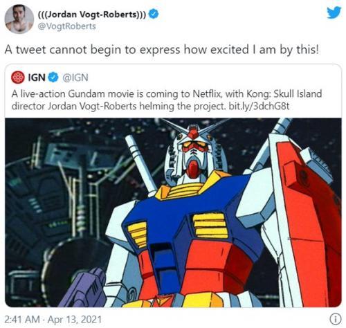 Netflixが実写映画『機動戦士ガンダム』の配信を発表 「これ以上アニメの実写化で大失敗しないでくれ」「アメリカ人監督とか中国資本の映画会社じゃなくて日本人に任せたほうがいいと思うよ」