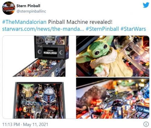 アメリカのピンボールメーカーが『マンダロリアン』のピンボールマシンを発表
