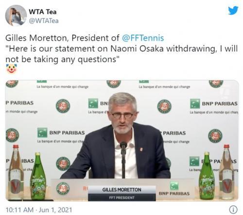 大坂なおみ選手を非難していたフランステニス連盟ジル・モレトン会長に批判集まる 「超ダブルスタンダードじゃん」「メディア対応は仕事の一部じゃなかったの?」