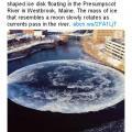 アメリカの川に月が出現!? ドローンで撮影された月や惑星に見える巨大氷