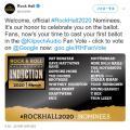 ロックの殿堂 2020年度のノミネートとして16組のアーティストを発表