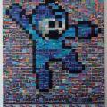 1500枚のスクリーンショットを使って描かれた『ロックマン』のドット絵