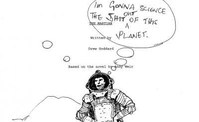 『オデッセイ』リドリー・スコット監督の貴重なスケッチを入手 原本はNASAの新型宇宙船に搭乗