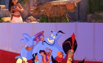 【似てると話題】マウイとジーニーは同じクリエイターが生んだキャラクターだった!