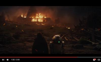 【速報】『スター・ウォーズ/最後のジェダイ』の初映像が解禁! ジェダイが滅びる……だと?