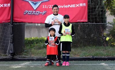 鈴木夢ちゃん&鈴木楽くんがドリブルレースに大興奮! 「お兄ちゃんはいないけど頑張った」