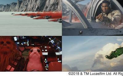 レイア・ポー・C-3PO・フィン・ローズ・BB-8・チューバッカ・レイ・ポーグが勢揃い! 『スター・ウォーズ/最後のジェダイ』7分半の本編映像