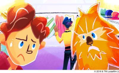 ハン・ソロ&チューバッカがキュートなポップでキュートに! ルーカスフィルム公認ショートアニメ
