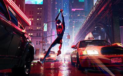"""『スパイダーマン:スパイダーバース』本編映像解禁! 運命を引き継いだスパイダーマン""""マイルス""""と""""プラウラー""""の緊迫サブウェイ・チェイス"""